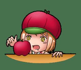 Kippi the Apple Maniac Girl sticker #13700720