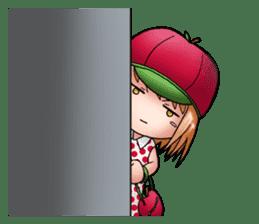 Kippi the Apple Maniac Girl sticker #13700722