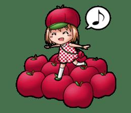 Kippi the Apple Maniac Girl sticker #13700725