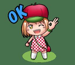 Kippi the Apple Maniac Girl sticker #13700727