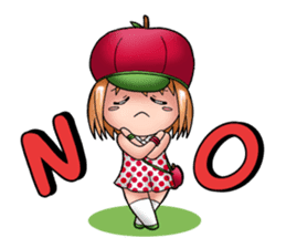 Kippi the Apple Maniac Girl sticker #13700728