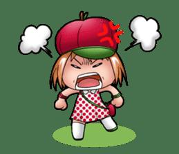 Kippi the Apple Maniac Girl sticker #13700729