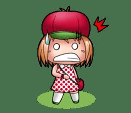 Kippi the Apple Maniac Girl sticker #13700730