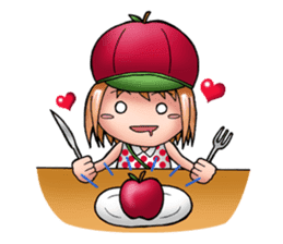 Kippi the Apple Maniac Girl sticker #13700731
