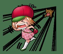 Kippi the Apple Maniac Girl sticker #13700733