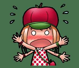 Kippi the Apple Maniac Girl sticker #13700734
