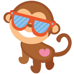 Happy turkmen monkey