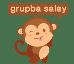 Happy turkmen monkey sticker #13710990