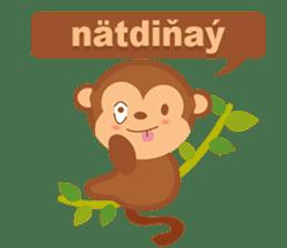 Happy turkmen monkey sticker #13710991