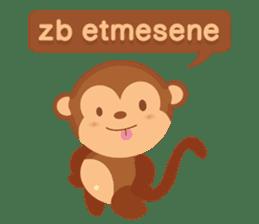 Happy turkmen monkey sticker #13710998