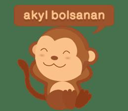 Happy turkmen monkey sticker #13711000