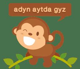 Happy turkmen monkey sticker #13711002
