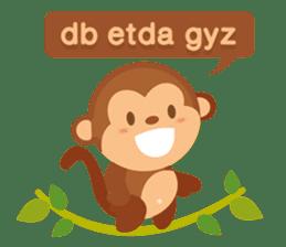 Happy turkmen monkey sticker #13711004