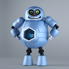 Boppy the funny robot