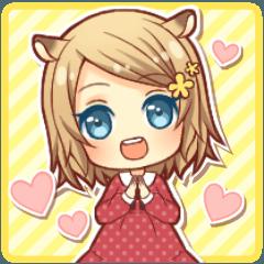 Fluffy hamster girl