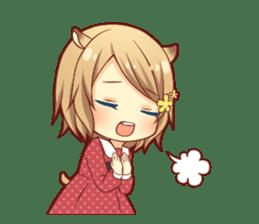 Fluffy hamster girl sticker #13735137