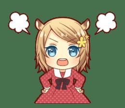 Fluffy hamster girl sticker #13735146