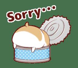 Fluffy hamster girl sticker #13735148