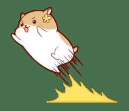Fluffy hamster girl sticker #13735153