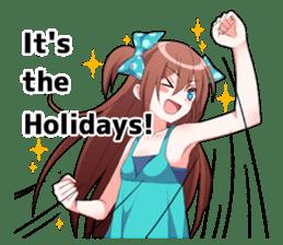 Cheerful moe girl, Meitan! -Winter [ENG] sticker #13747206