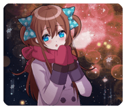 Cheerful moe girl, Meitan! -Winter [ENG] sticker #13747228