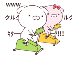 Daily Lives of cute moving white dogs. sticker #13751395