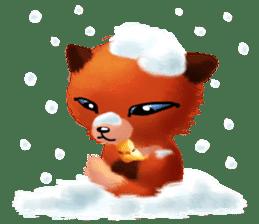 Soft Foxes sticker #13756534