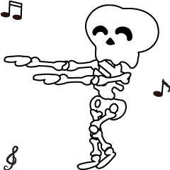 Boonma skeleton (step dance) - Animated