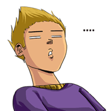 Spike Hair Boy sticker #13767039