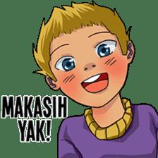 Spike Hair Boy sticker #13767061