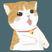 สติ๊กเกอร์ไลน์ ดีโน่แมวส้ม