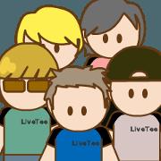 สติ๊กเกอร์ไลน์ LIVEBOYS animation