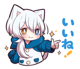 WHITE KITTEN 6 sticker #13773438