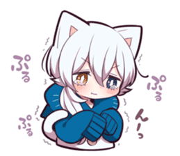 WHITE KITTEN 6 sticker #13773444