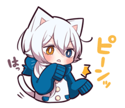 WHITE KITTEN 6 sticker #13773451