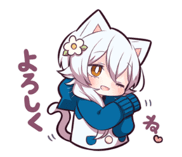WHITE KITTEN 6 sticker #13773454