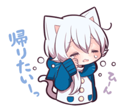 WHITE KITTEN 6 sticker #13773457