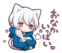 WHITE KITTEN 6 sticker #13773459