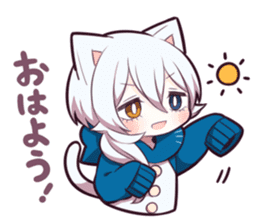 WHITE KITTEN 6 sticker #13773462