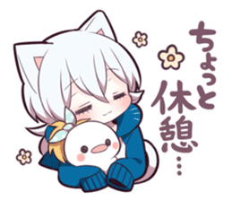 WHITE KITTEN 6 sticker #13773463