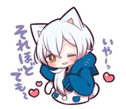 WHITE KITTEN 6 sticker #13773469
