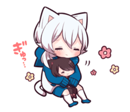 WHITE KITTEN 6 sticker #13773477