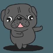 สติ๊กเกอร์ไลน์ Kuro Pug Animated 2!