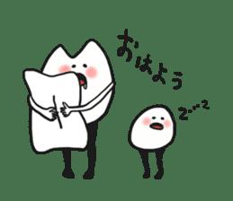 Sankaku and Mashimaro sticker #13805666