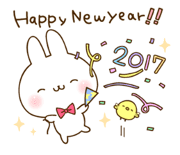 newyear2017! Namaiki-rabbit Sticker. sticker #13814690