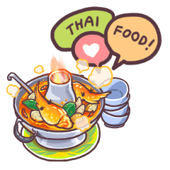 I love Thai food. (EN)