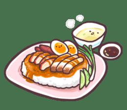 I love Thai food. (EN) sticker #13828544