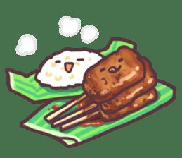 I love Thai food. (EN) sticker #13828547