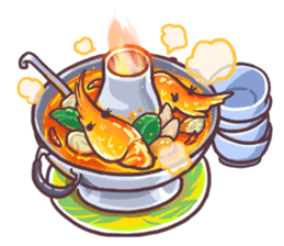 I love Thai food. (EN) sticker #13828550