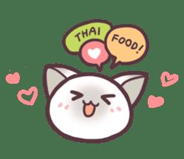 I love Thai food. (EN) sticker #13828562